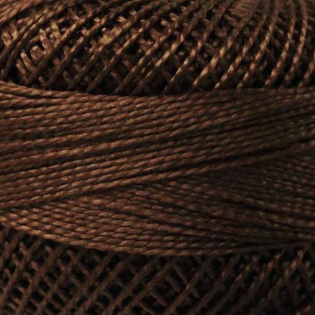 Finca Perle' Cotton Size 8 - Coffee Brown