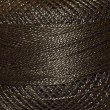 Finca Perle' Cotton Size 8 - Dark Drab Green Brown