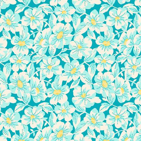 Nana Mae 4 1930's Reproduction Large Daisy - Aqua
