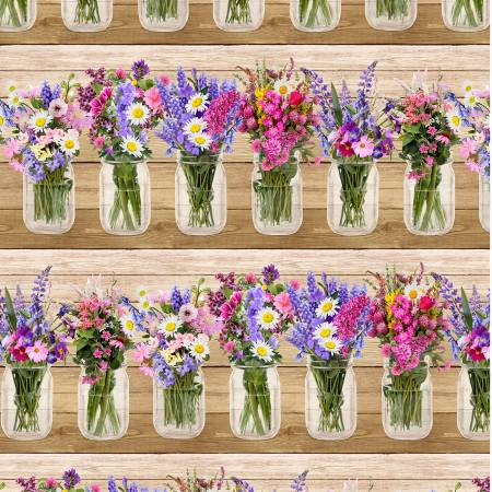 Spring Beauty Border Stripe - Multi
