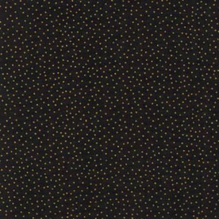 Metallic Dots - Black w/Gold