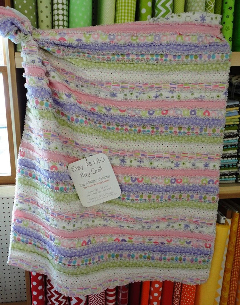 Easy As 1-2-3 Rag Quilt Kit - Flannel