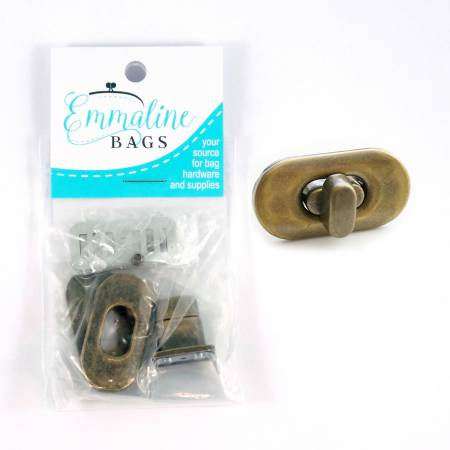 Small Turn Lock - Antique Brass