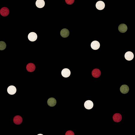 Flannel Big Dots - Black/Green/Red