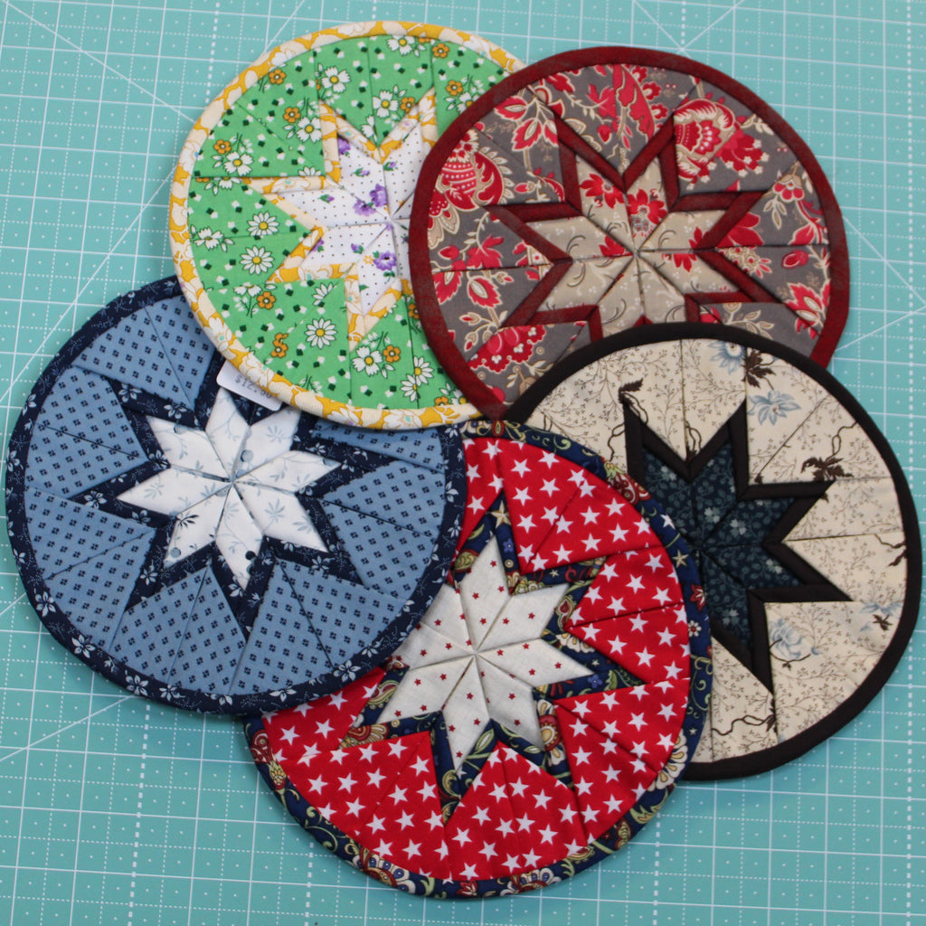 Round Folded Star Pot Holders