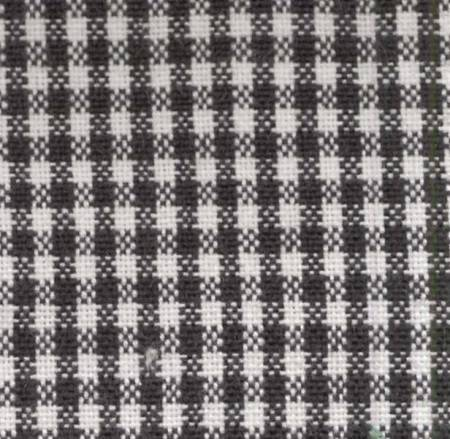 Mini Check Towel Black White