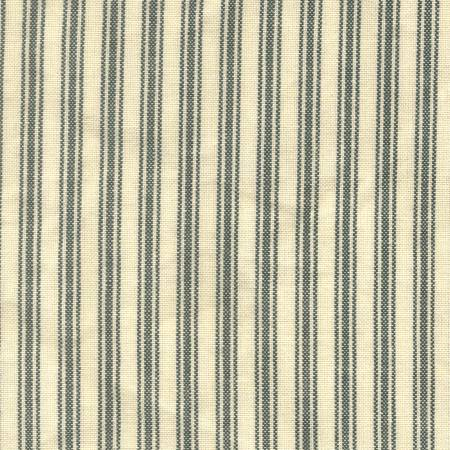 Ticking Stripe Green Cream
