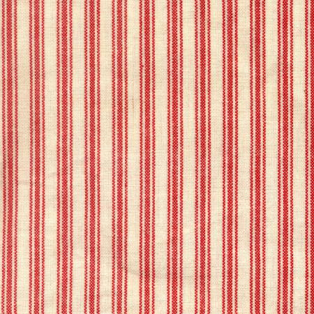 Ticking Stripe Red Cream