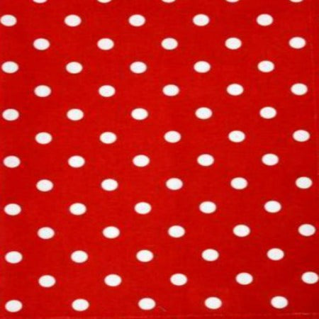 Printed Dot Tea Towel Bright Red White