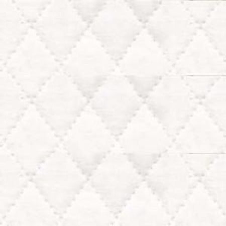 Single Faced Muslin Quilted - White