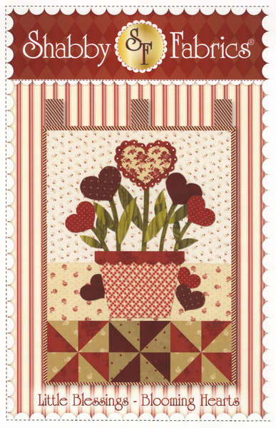 Little Blessings Wall Hanging Pattern - Blooming Hearts
