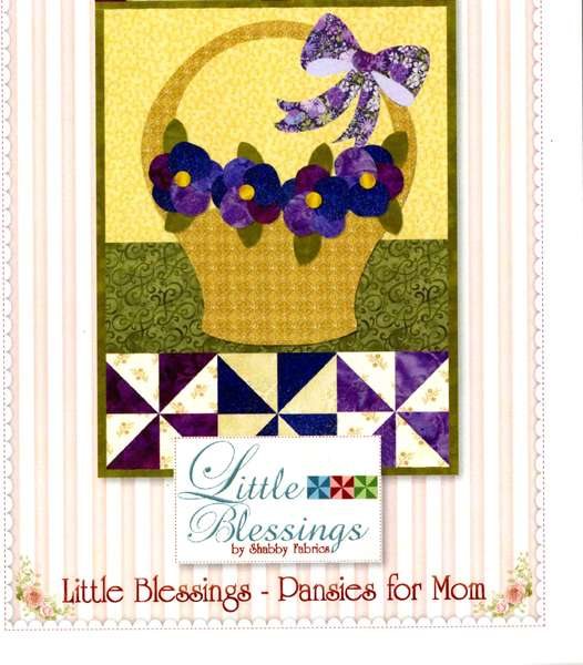 Little Blessings Wall Hanging Pattern - Pansies for Mom