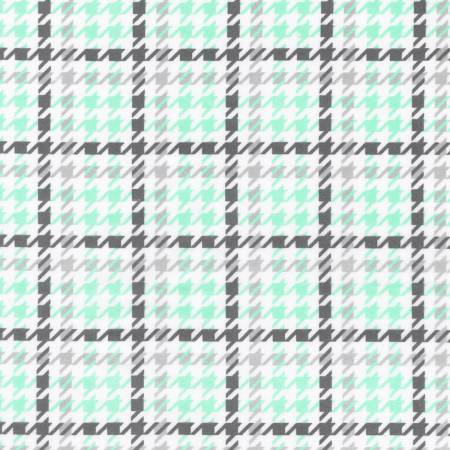 Flannel Houndstooth - Mint