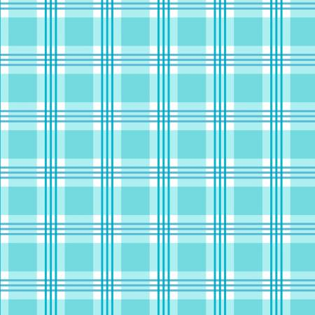 Sunshine Floral Plaid - Aqua