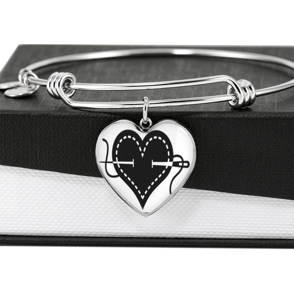 "MDG Jewelry: ""Sewing Mends the Heart"" Luxury Bangle"