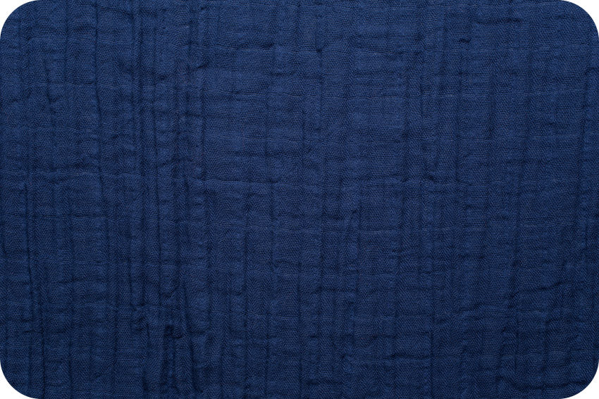 Embrace Double Gauze Solid - Cobalt