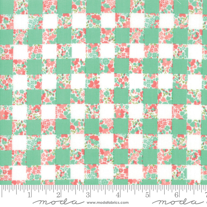 Strawberry Jam Gingham Garden - Rainy Day
