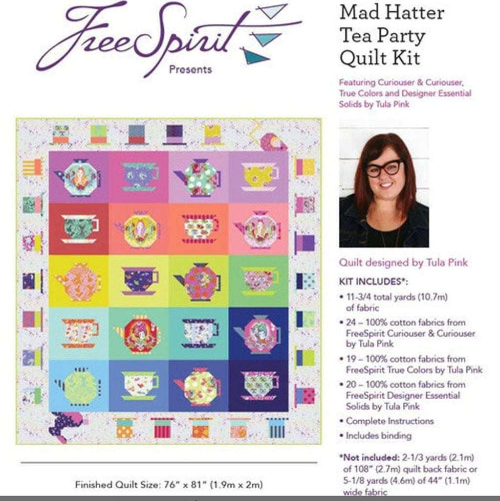 The Mad Hatter Tea Party Quilt Kit -PRE-ORDER