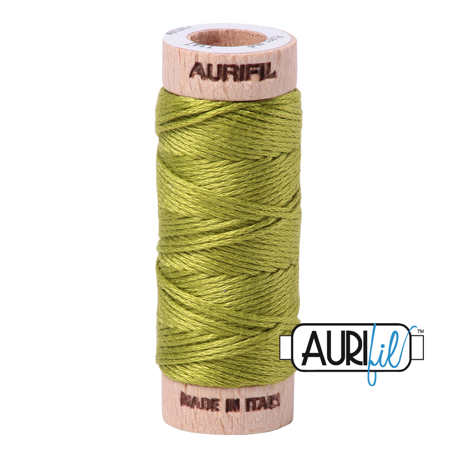 Aurifloss 6 Strand Cotton Floss - Light Leaf Green