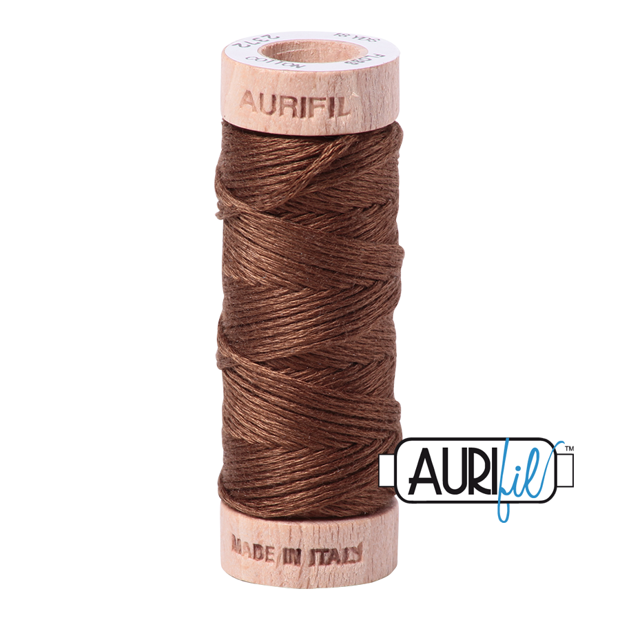 Aurifloss 6 Strand Cotton Floss - Dark Antique Gold