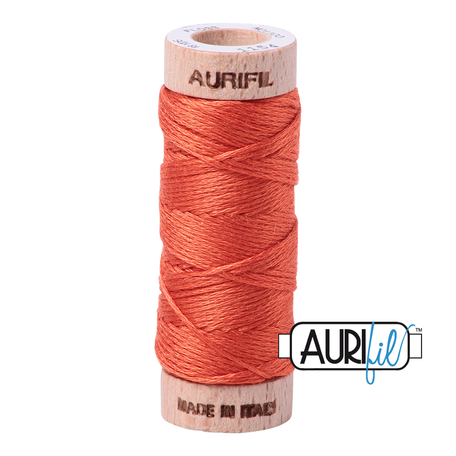 Aurifloss 6 Strand Cotton Floss - Dusty Orange