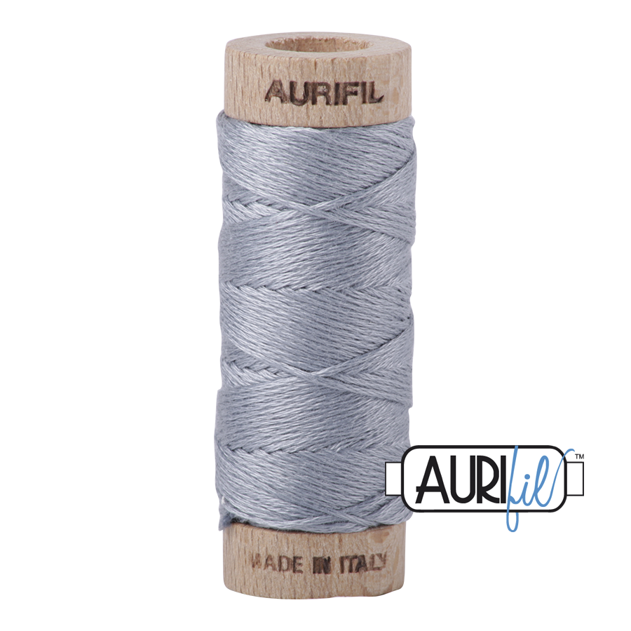 Aurifloss 6 Strand Cotton Floss - Light Blue Grey