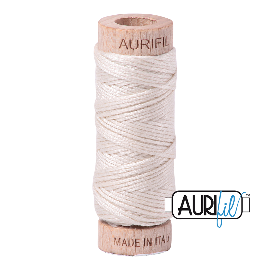 Aurifloss 6 Strand Cotton Floss - Silver White