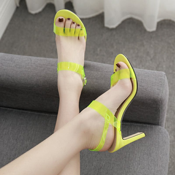 Slingback Strap Open Toe Buckle Chunky Heel Casual Low-Cut Upper Sandals