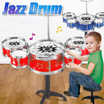 Toys Jazz Drum Set for Kids , 11 Piece Musical Instrument Playset w/ 5 Drums , Cymbal , Stand & Drumsticks