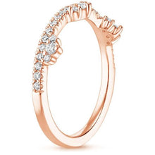 Load image into Gallery viewer, 0.60 CT Cosette Diamond Ring Half Eternity Women Band in Solid 14 k Rose Gold Women Band HK Jewellers
