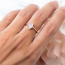 Load image into Gallery viewer, 1 Ct Moonstone Natural Diamond Wedding Engagement Ring 14 k Solid Gold June Birthstone Gemstone Ring HK Jewellers