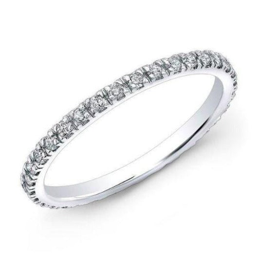 1 mm Full Eternity Diamond Band Wedding Band HK Jewellers