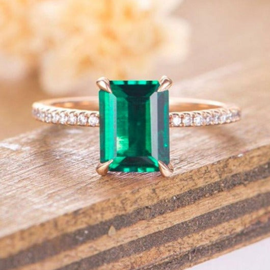1.5 Ct. Emerald Engagement Ring Engagement Ring HK Jewellers