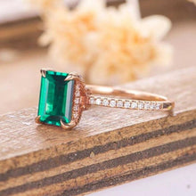 Load image into Gallery viewer, HKJ-HKJeweler-Gold-Jewelry-HKJWeddingRing-Wedding-Engagement-Ring-Band-Natural-Zambian-Zambia-Emerald-Ring