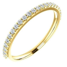 Load image into Gallery viewer, 1.5mm Natural Diamond Half Eternity Gold Band Half Eternity Band HK Jewellers