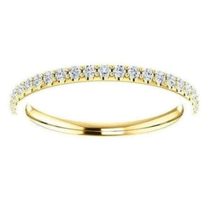 1.5mm Natural Diamond Half Eternity Gold Band Half Eternity Band HK Jewellers