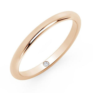 1mm Dainty Gold Moissanite Band Men Wedding Band HK Jewellers