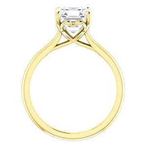 2 Carat Moissanite Solitaire Engagement Ring Wedding Ring HK Jewellers