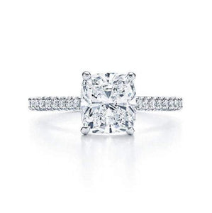 2 Carat Moissanite Wedding Ring Set Wedding Ring HK Jewellers