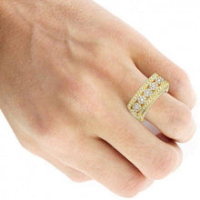 Load image into Gallery viewer, 2.1 Ct Diamond Wedding Men Ring 14 k Solid Gold Natural Diamonds Wedding Ring HK Jewellers
