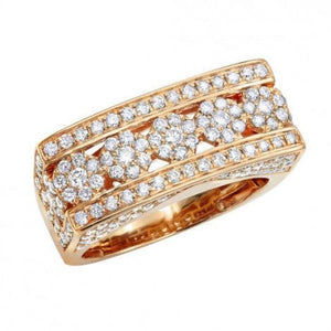 2.1 Ct Diamond Wedding Men Ring 14 k Solid Gold Natural Diamonds Wedding Ring HK Jewellers US 0 Rose Gold