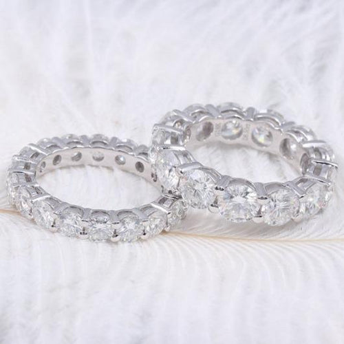 2mm 4mm Moissanite Couple Eternity Band Women Wedding Band HK Jewellers