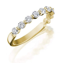 Load image into Gallery viewer, 2mm Gold Moissanite Wedding Band Wedding Band HK Jewellers