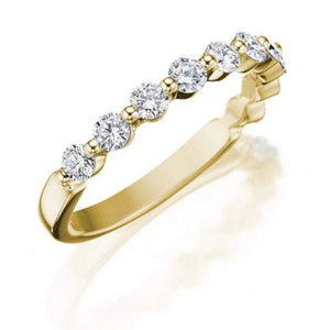 2mm Gold Moissanite Wedding Band Wedding Band HK Jewellers