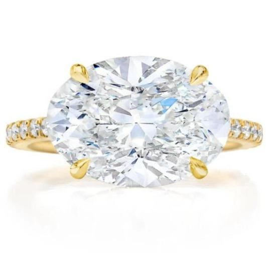 3 Carat Moissanite Diamond Engagement Ring Wedding Ring HK Jewellers