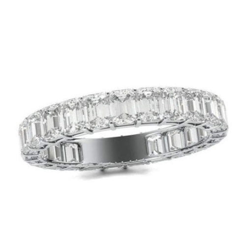 3 CTW Moissanite wedding band Full Eternity Band HK Jewellers