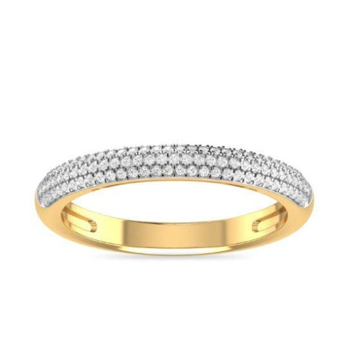 3 mm Natural Diamond Half Eternity Band Women Ring in 14 k Solid Gold Anniversary & Engagement Jewelry Half Eternity Band HK Jewellers