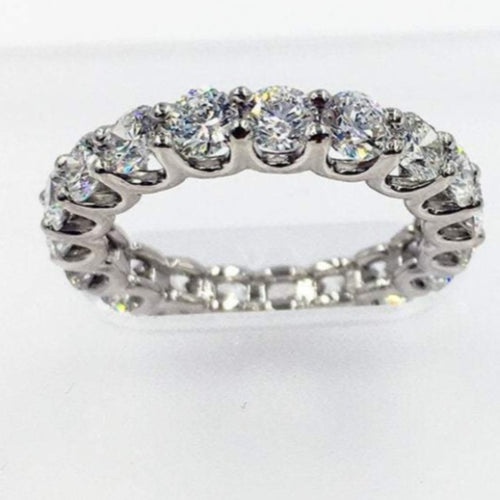 3.5mm Moissanite Wedding Band Full Eternity Band HK Jewellers