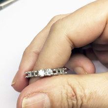 Load image into Gallery viewer, 3.5mm Moissanite Wedding Band Full Eternity Band HK Jewellers