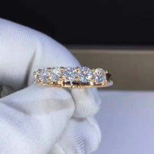Load image into Gallery viewer, 4mm Moissanite Half Eternity Band Wedding Band HK Jewellers